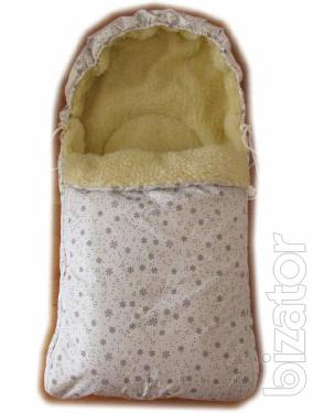 New! The envelopes in the sled, stroller on the sheepskin! Sale! Quality!