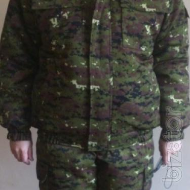 Suit winter camouflage