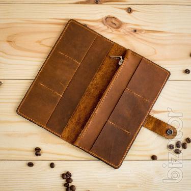 "Men's leather purse handmade ""Sherif"". 100% Genuine leather."