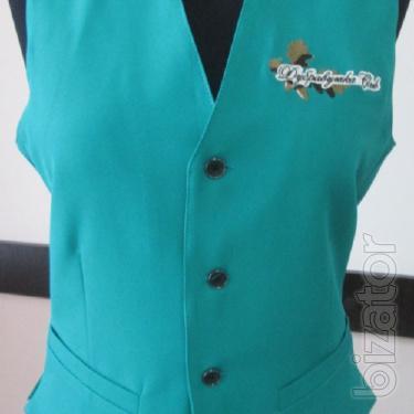 Vest for waiter green
