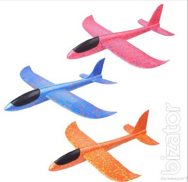 Airplane glider plane throwing Styrofoam 48 cm + gift