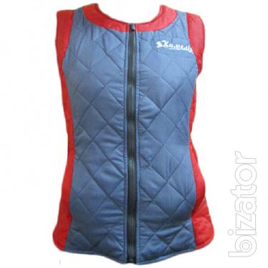 Quilted vest with inserts