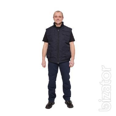 Insulated vest,fabric Oslo,black