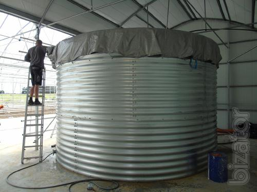 Capacity 100 cubic meters, the Tanks 100 cubic meters for liquid