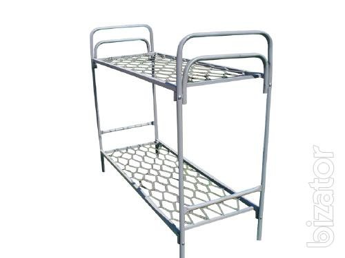 Bed metal with mattress, metal single bed, pull-out metal beds