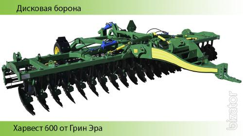 Disk harrow harvest 600