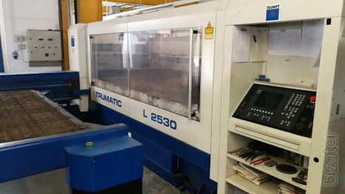Laser system Trumpf Trumatic L2530, 2 kW, 2002, V.