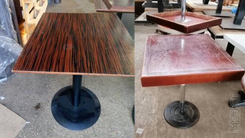 Tables BU for cafe restaurant bar metal leg