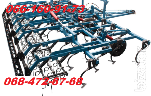 Wide grip cultivator CGS-8.4 with the harrows and roller