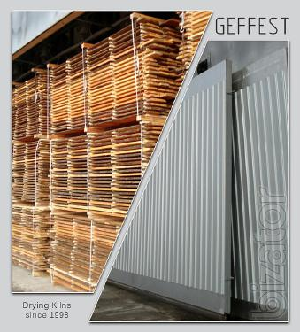 Gefest - modern industrial kiln systems for drying wood of high quality.