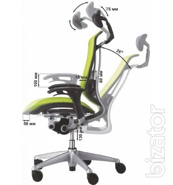 """Okamura Contessa chair for the head. New, from the representative of LLC """"Krka Suite"""""""