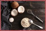 Coconut flour is gluten free, no flour flavor coconut