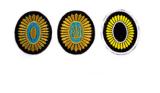 "Chevron-badge ""Sunflower"""