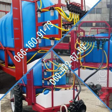 2000l trailed sprayer / 2500 hydraulic wing lift