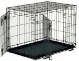 Cage for dogs, reinforced, two-door