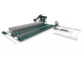 Equipment for the production of concrete blocks