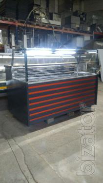 Refrigerated display Cube 1.7 m BU. Showcase gastronomy BU.