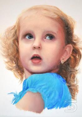Портрет на заказ маслом по фото на холстеPortrait oil painting. Oil painting. Portrait to order. Photo.