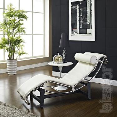 Lekor chaise lounge, lounge chair, Le Corbusier , white, black