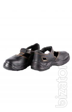 Work sandals without metal sock