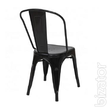 Chair Tolix, metal, black