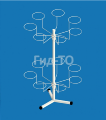 """Stand under your hat """"Daisy"""" table (14 brackets)"""