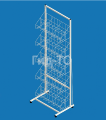 Display rack with mesh baskets under tights Eva 4 baskets (width 600 mm)