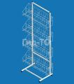 Display rack with mesh baskets under tights Eva 4 baskets (width 900 mm)