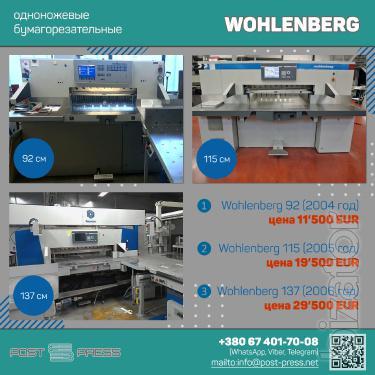 Wohlenberg 92   Wohlenberg 115   Wohlenberg 137