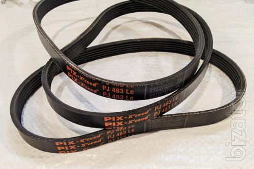 For lawn mower Intertool DT-2262 drive belt 6PJ483