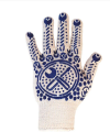 Mechanic gloves with PVC dot