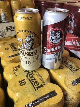 Gambrinus Beer, Kozel. Small and large wholesale. The original.