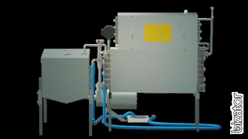 The milk pasteurizer flow 300 l, UZM-0,3