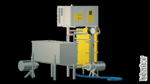 The milk pasteurizer flow of 1 t/h UZM-1.0 R