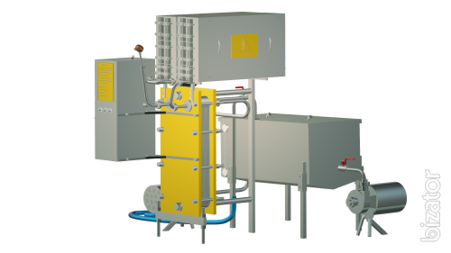 Pasteurizer milk flowing to cheese production and cream 2 t/h UZM-2.0 P