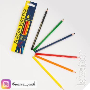 Карандаши цветные Marco Superb Writer 6 цветов (4100-6CB)
