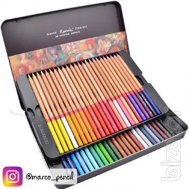 The Renoir colored pencils Marco Fine Art 48 colors