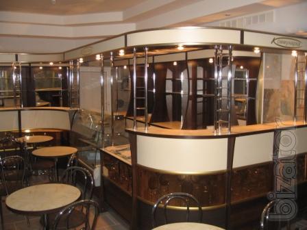 Столы, стулья, барные стойки и прочая мебель для офисов, кафе и ресторанов.