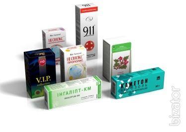 Картонная упаковка для лекарств со шрифтом Брайля