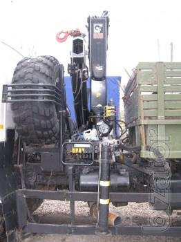 Маз 53366 с манипулятором хиаб для пер евозки стройматериалов + прицеп МАЗ 8926, г/п 20 т. Груза.