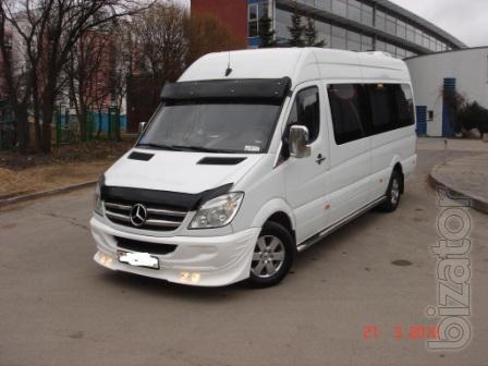 Пассажирские перевозки комфортабельными микроавтобусами с водителем Volkswagen Саravelle Т5 (10 мест), Мерседес Спринтер (18 мес