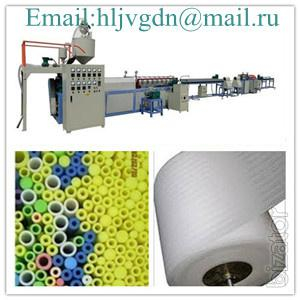 The equipment for manufacture of foamed polyethylene sheet EPE