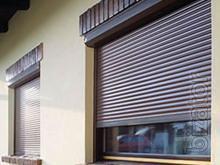 Protective shutters in Kharkiv