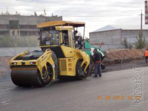 Paving and construction site