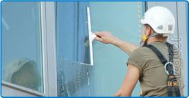 Slimtim services high-rise cleaning of facades and glazing in Moscow