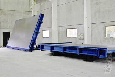 The equipment for manufacture of wall panels
