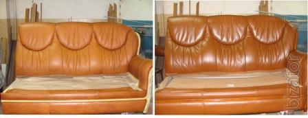 Painting (restoration) furniture leather