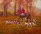 """Unique original painting """"Hunting"""""""