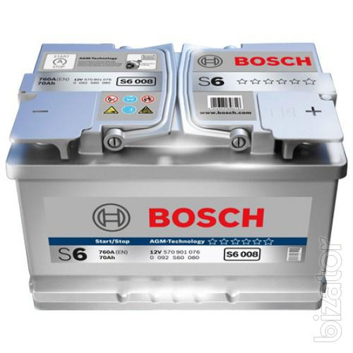 battery bosch s6 agm hightec 70 ah buy on. Black Bedroom Furniture Sets. Home Design Ideas