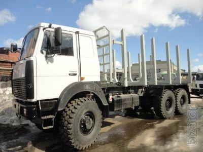 MAZ 6303 timber - sortiments with manipul and trailer